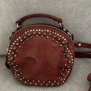 Campomaggi Round Leather Bowler Purse with Studs